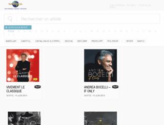pro.universalmusic.fr screenshot