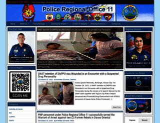 pro11.pnp.gov.ph screenshot
