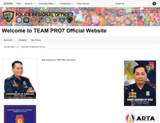 pro7.pnp.gov.ph screenshot