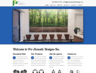 proacousticdesigns.ca screenshot