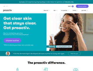 proactiv.com screenshot