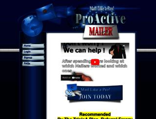 proactivemailer.com screenshot
