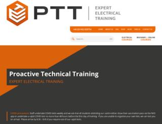 proactivetechnicaltraining.co.uk screenshot