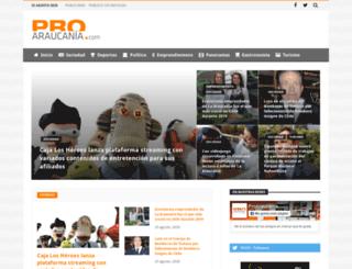 proaraucania.com screenshot