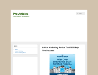 proarticles.co.uk screenshot