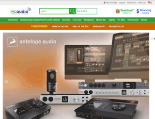 proaudiosolutions.com screenshot
