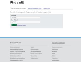 probatesearch.service.gov.uk screenshot