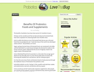 probiotics-lovethatbug.com screenshot