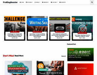 problogbooster.com screenshot
