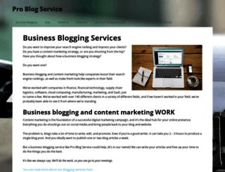 problogservice.com screenshot