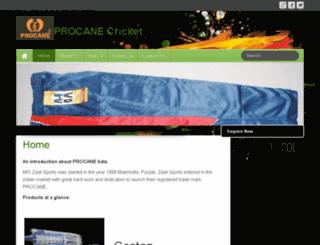 procanecricket.com screenshot