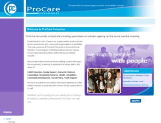 procarepersonnel.com.au screenshot