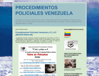 procedimientospolicialesvenezuela.blogspot.com screenshot