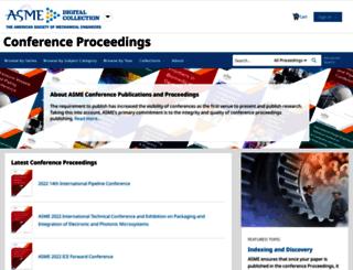 proceedings.asmedigitalcollection.asme.org screenshot