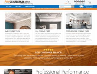 proceilingtiles.com screenshot