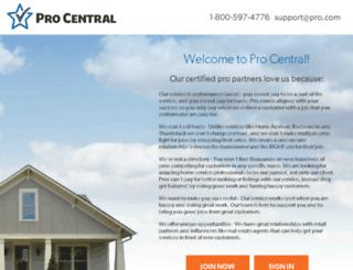 procentral.pro.com screenshot