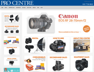 procentre.co.uk screenshot