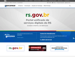 procergs.com.br screenshot