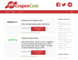 procouponcode.com screenshot