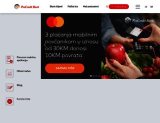 procreditbank.ba screenshot