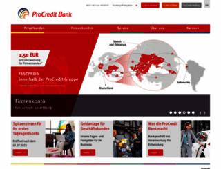 procreditbank.de screenshot