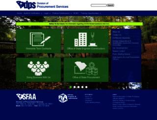 procurement.sc.gov screenshot
