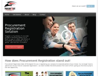 procurementregistration.com screenshot