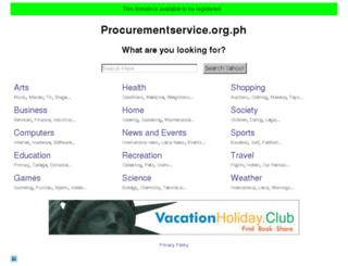 procurementservice.org.ph screenshot
