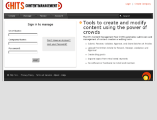 prod-hits-cms.appspot.com screenshot