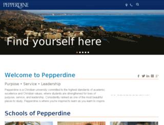prod-www.pepperdine.edu screenshot