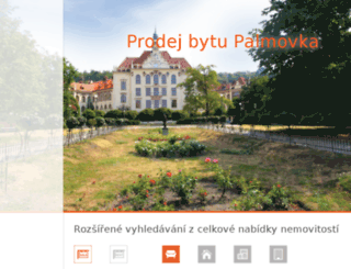 prodej-bytu-palmovka.cz screenshot