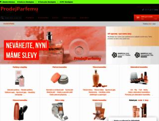 prodejparfemu.cz screenshot
