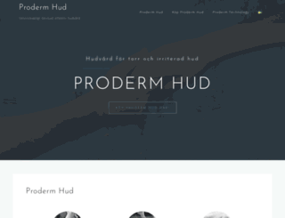 proderm.se screenshot