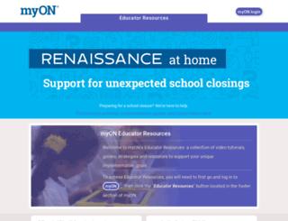 prodev.myon.com screenshot