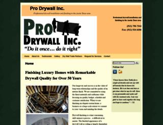 prodrywallteam.com screenshot