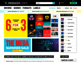 producerloops.com screenshot