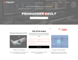 producersvault.com screenshot