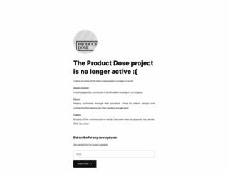 productdose.com screenshot