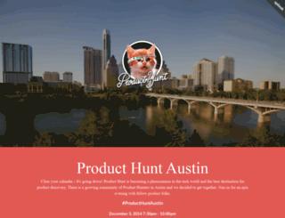 producthuntaustin.splashthat.com screenshot