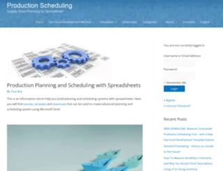 production-scheduling.com screenshot