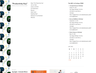 productivityguy.wordpress.com screenshot