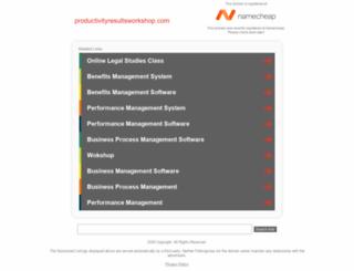 productivityresultsworkshop.com screenshot