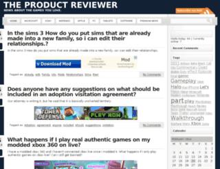 productreviewer.org.uk screenshot