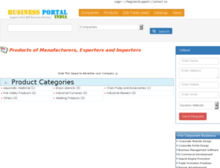 products.businessportalindia.com screenshot
