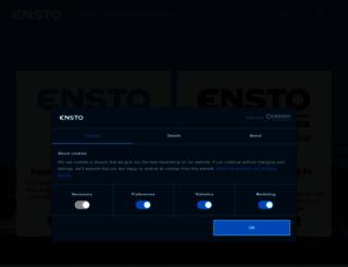 products.ensto.com screenshot