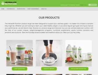 products.herbalife.com screenshot