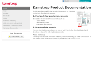 products.kamstrup.com screenshot