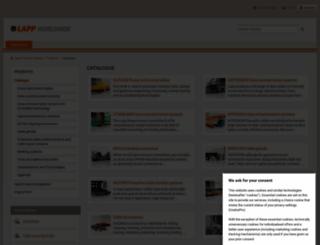 products.lappgroup.com screenshot