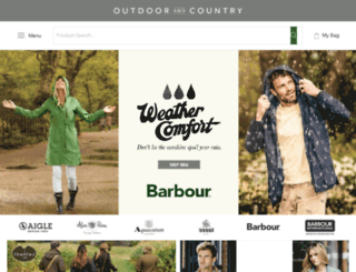 products.outdoorandcountry.co.uk screenshot