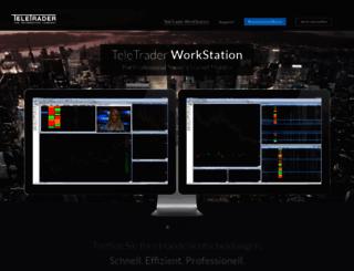 products.teletrader.com screenshot
